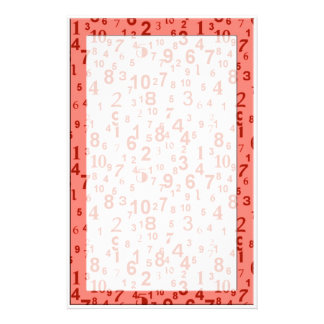 numbers stationery