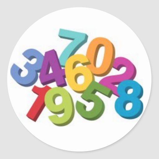 Numbers Stickers