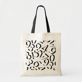Numbers Tote Bag