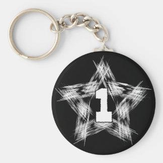 numder one star key chains