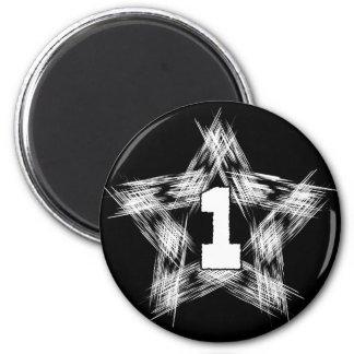 numder one star 2 inch round magnet