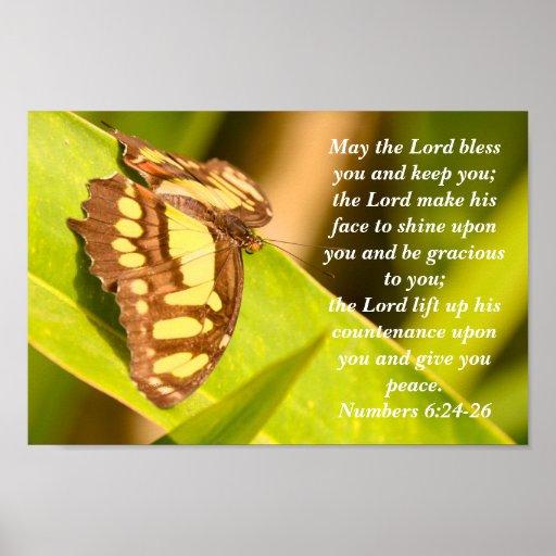 Numera el 6:24 - poster de bendición 26