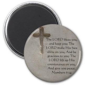 Numera el 6:24 QUE ELEVA VERSO de la BIBLIA con la Imán Redondo 5 Cm