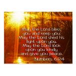 NUMERA VERSO DE LA BIBLIA DEL 6:24 - PUEDE EL SEÑO TARJETA POSTAL