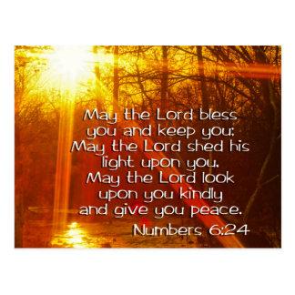 NUMERA VERSO DE LA BIBLIA DEL 6:24 - PUEDE EL POSTAL