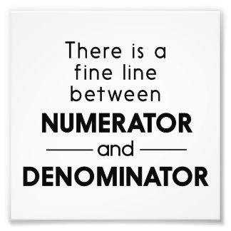 Numerador y denominador fotografía