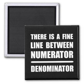 Numerator Denominator 2 Inch Square Magnet