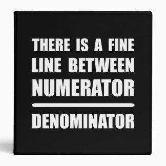 Numerator Denominator Binder