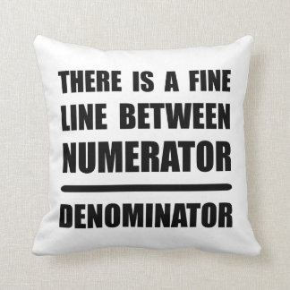 Numerator Denominator Pillow