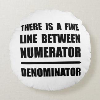 Numerator Denominator Round Pillow