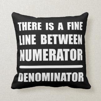 Numerator Denominator Throw Pillow