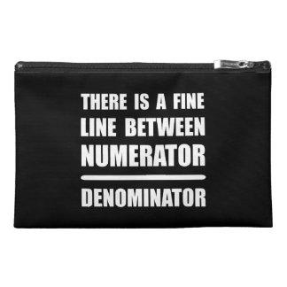 Numerator Denominator Travel Accessories Bags