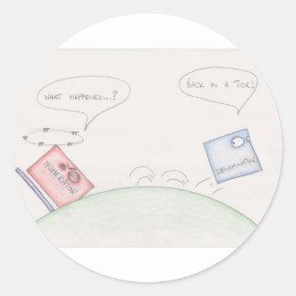 Numerator Vs Denominator Classic Round Sticker
