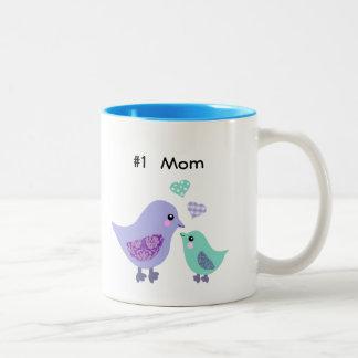 Numere a 1 mamá taza púrpura y azul linda del
