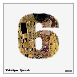 Numere la etiqueta de 6 paredes - número seis then vinilo