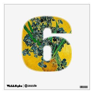 Numere la etiqueta de 6 paredes - número seis then vinilo decorativo