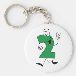 Numere las 2das camisetas y regalos del cumpleaños llavero redondo tipo pin