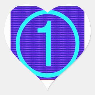 NUMERE UN GRADO de n los REGALOS de motivación Pegatina De Corazón