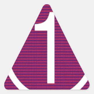 NUMERE UN GRADO de n los REGALOS de motivación Pegatina Triangular