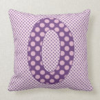 Numeric 0 Character in Brightly Colorful Design Throw Pillow (<em>$49.60</em>)