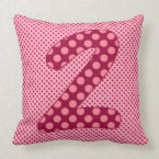 Numeric 2 Character in Brightly Colorful Design Throw Pillow (<em>$49.60</em>)