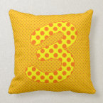 Numeric 3 Character, Brightly Colorful Polkadot Throw Pillow (<em>$49.60</em>)