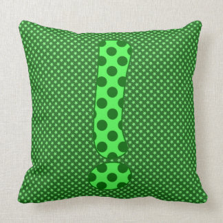 Numeric ! Character in Brightly Colorful Design Throw Pillow