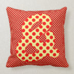 Numeric &amp; Character in Brightly Colorful Design Throw Pillow (<em>$49.60</em>)