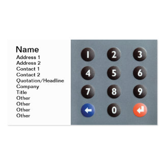 Numeric keypad Double-Sided standard business cards (Pack of 100)