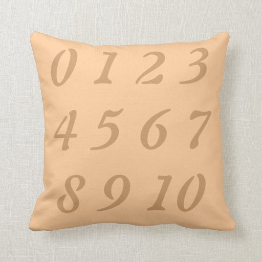 Throw Pillows With Numbers On Them : Numeric Numbers 1-10 American MoJo throw Pillow Zazzle