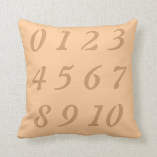 Numeric Numbers 1-10 American MoJo throw Pillow
