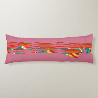 Numerical landscape body pillow