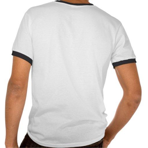 Número 03 con mirada fresca de las puntadas del bé camiseta