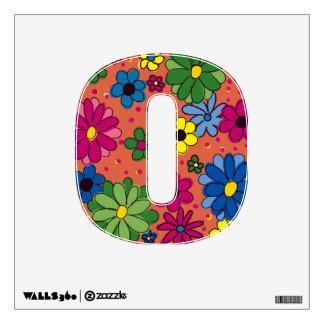 Número 0-Orange de la Etiqueta- de la pared con la Vinilo Decorativo