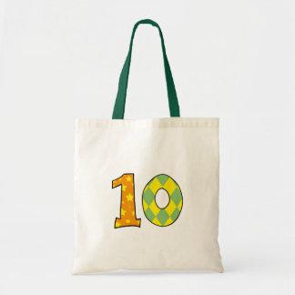 Número 10 bolsa tela barata