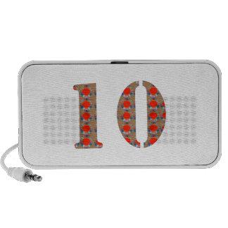 Número 10 CONMEMORACIÓN del aniversario de DIEZ cu iPod Altavoz