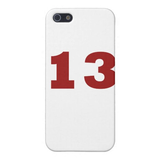 ¡Número 13! iPhone 5 Funda