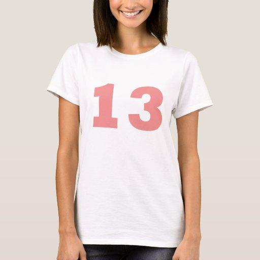 Número 13 playera