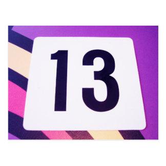 Número 13 postal