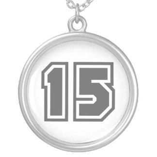 Número 15 colgante redondo