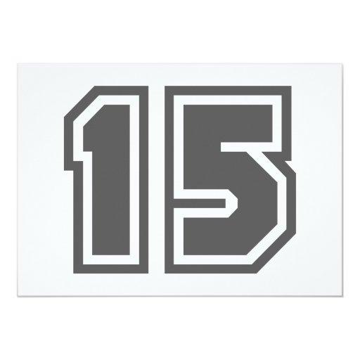 """Número 15 invitación 5"""" x 7"""""""