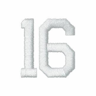 Número 16 camiseta polo bordada
