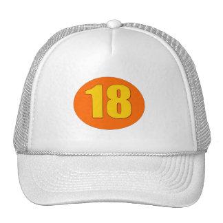 Número 18 gorras de camionero