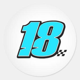 Número 18 - Pegatina