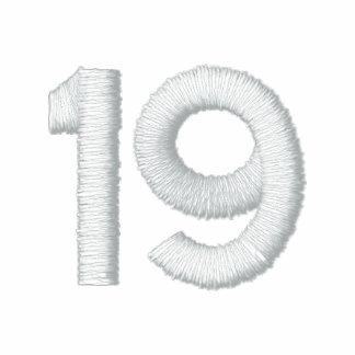 Número 19 polo bordado