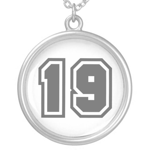 Número 19 colgante redondo