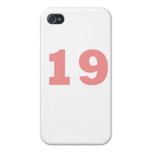 Número 19 iPhone 4 carcasas