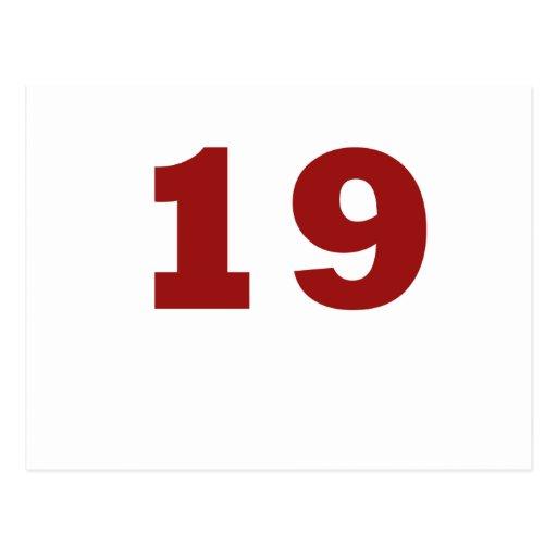 ¡Número 19! Postal