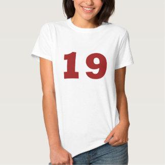¡Número 19! Remeras