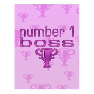 Número 1 Boss en rosa Tarjetas Postales